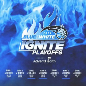 Blue & White Ignite : Slogan du Orlando Magic pour les Playoffs NBA 2019