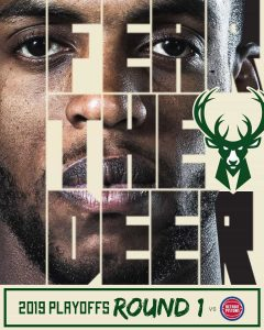 Fear the Deer : Slogan des Milwaukee Bucks pour les Playoffs NBA 2019
