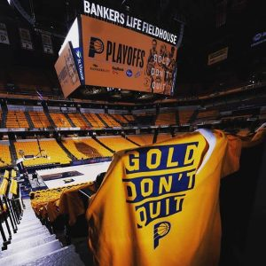 Gold don't Quit : Slogan des Indiana Pacers pour les Playoffs NBA 2019