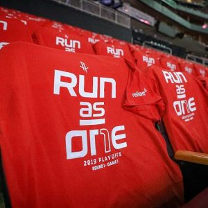 Run as One : Slogan des Houston Rockets pour les Playoffs NBA 2019