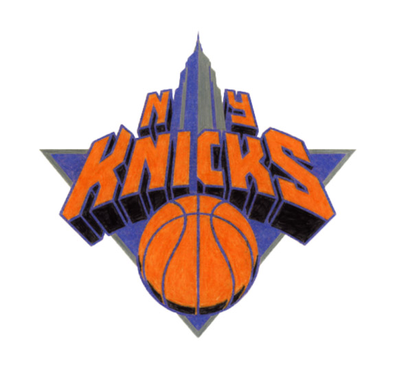 Logo des New York Knicks dessiné en couleur par Michael Doret (non retenu par la franchise)