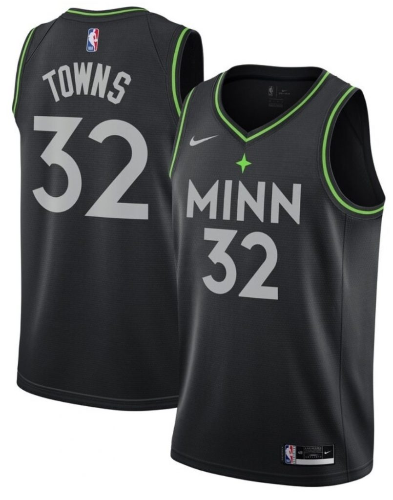 Maillot Nike City Edition 2021 des Minnesota Timberwolves